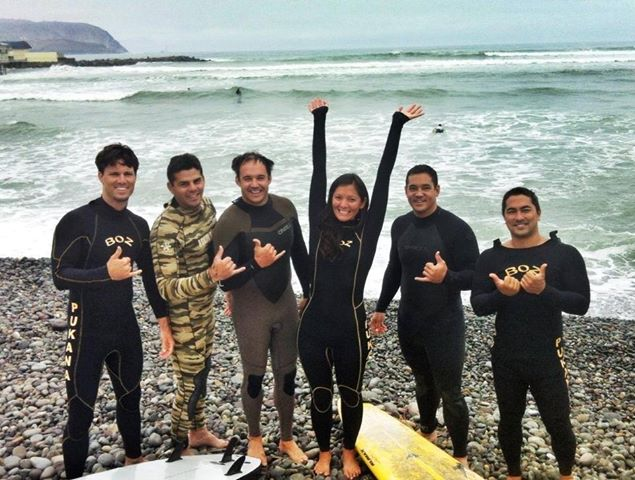 Maui Crew Surfing in Peru!
