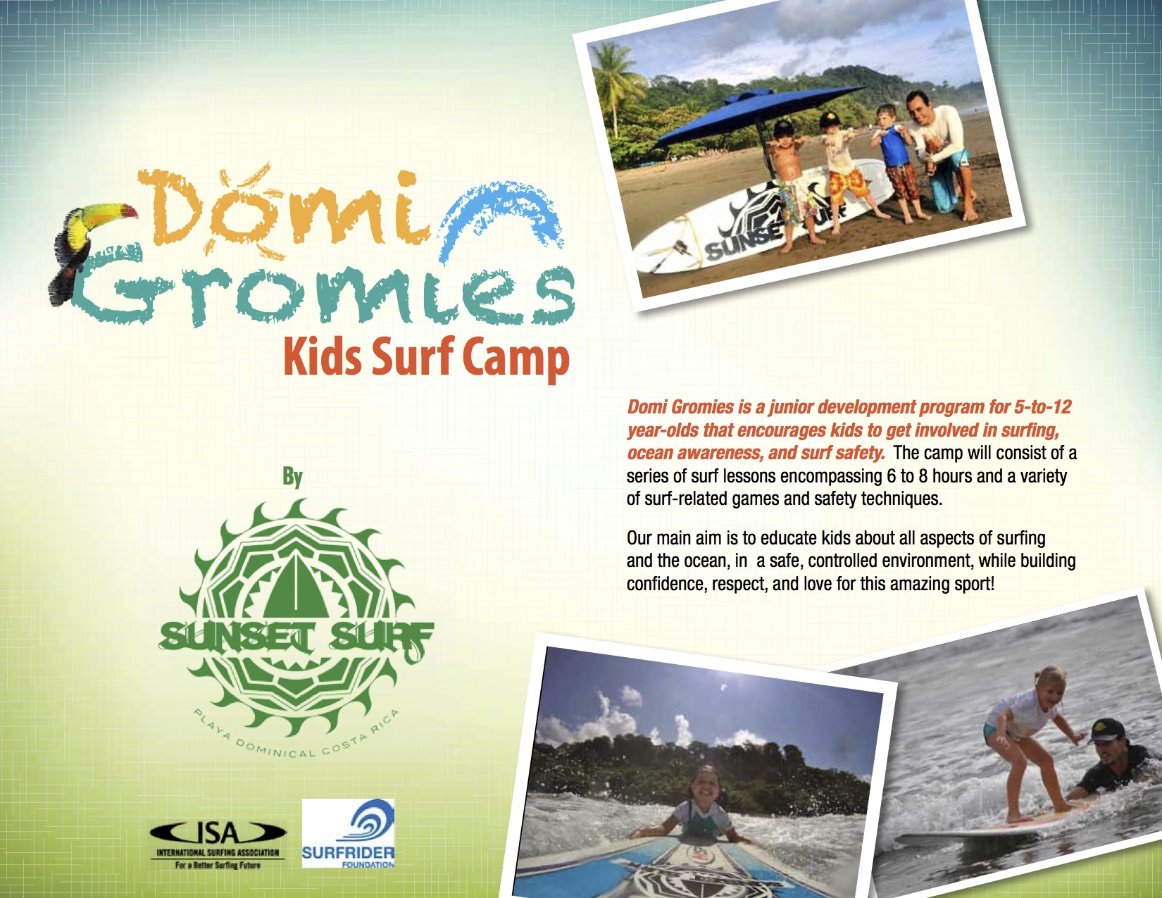 Costa Rica Kids Surf Camp