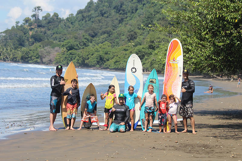 Kids surf camp