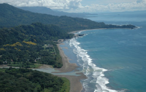 Dominical Town and Baru River